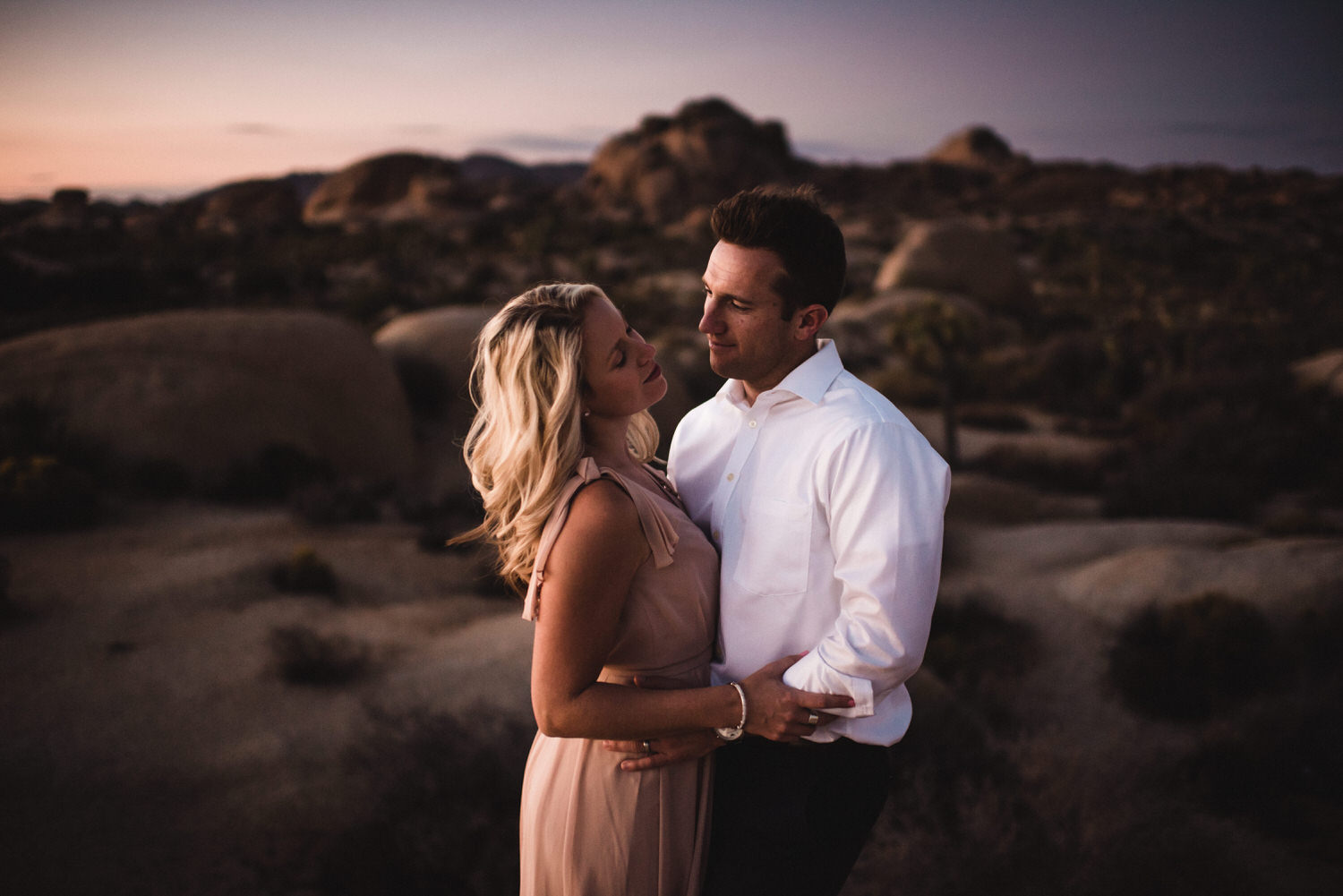 Tucson desert engagement sunset session with bride and groom