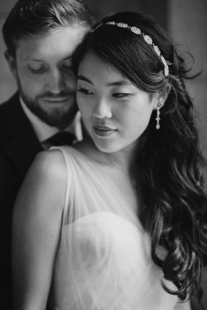 Portrait of Bride and Groom on their wedding day