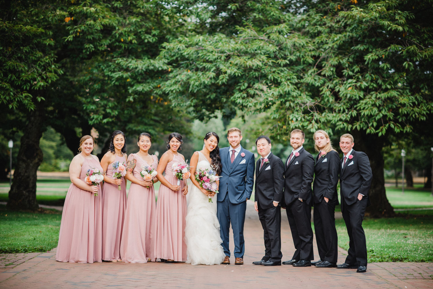 Seattle wedding party at UW