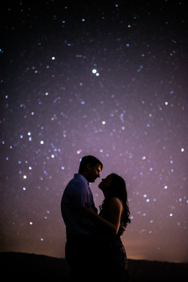 Stars and engagement session in Arizona
