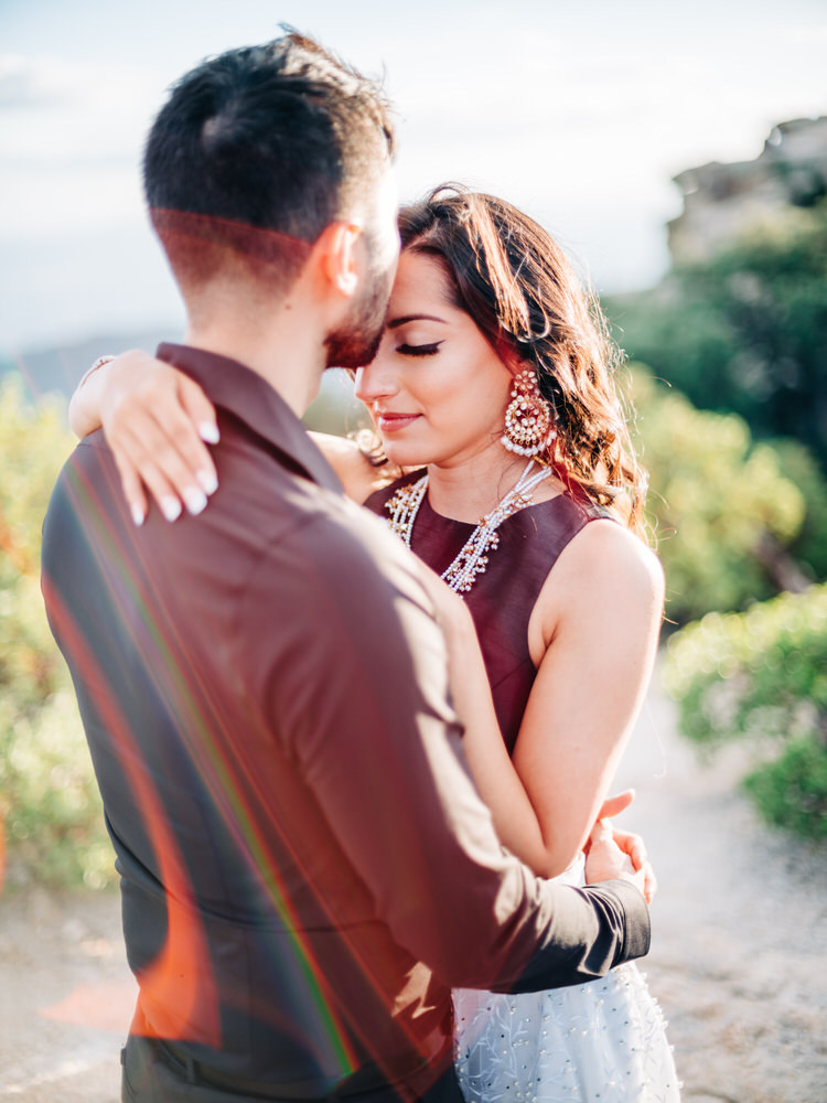 Indian couple on Mount Lemmon for engagement Session in Tucson