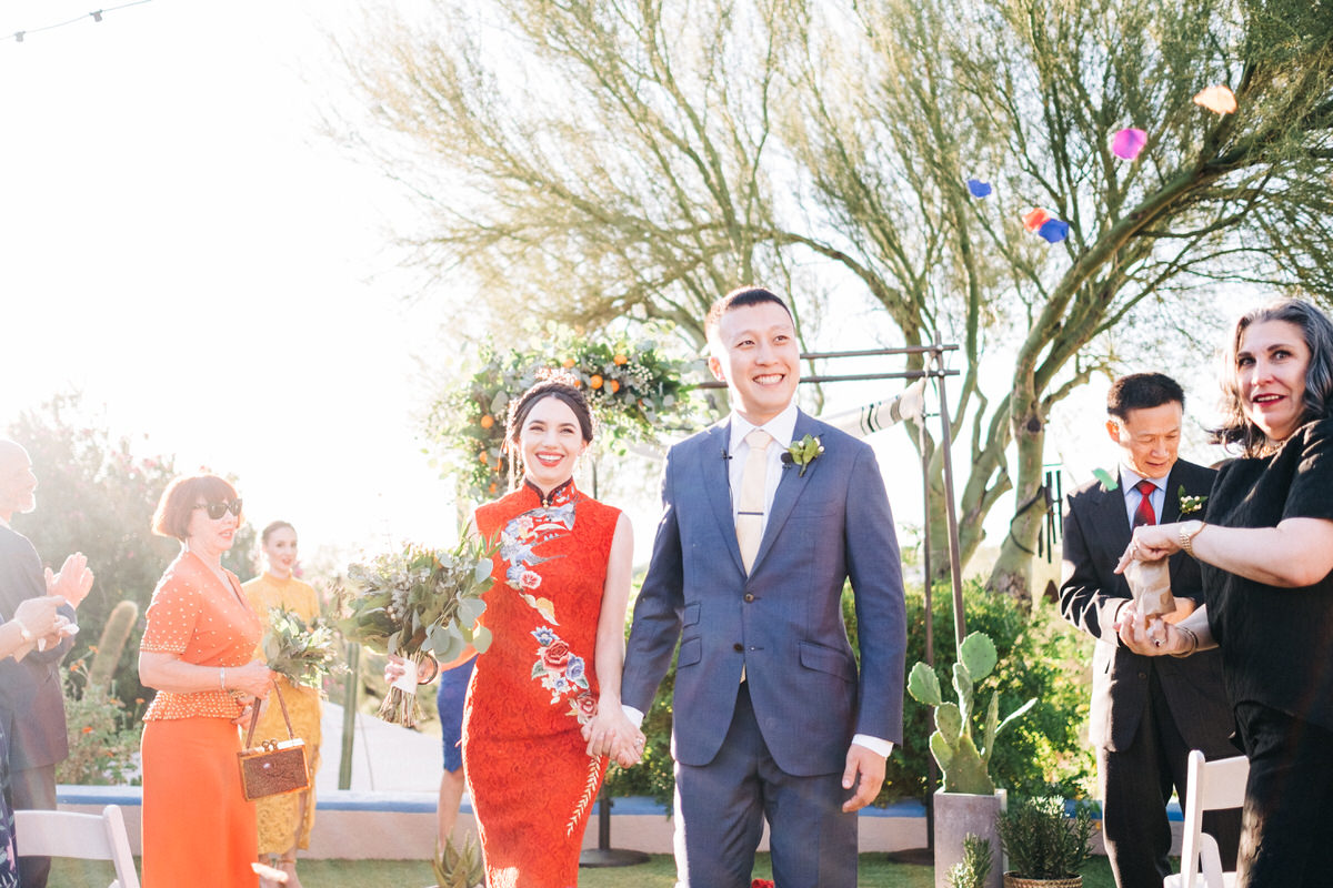 Hacienda Del Sol wedding ceremony in Tucson, Arizona
