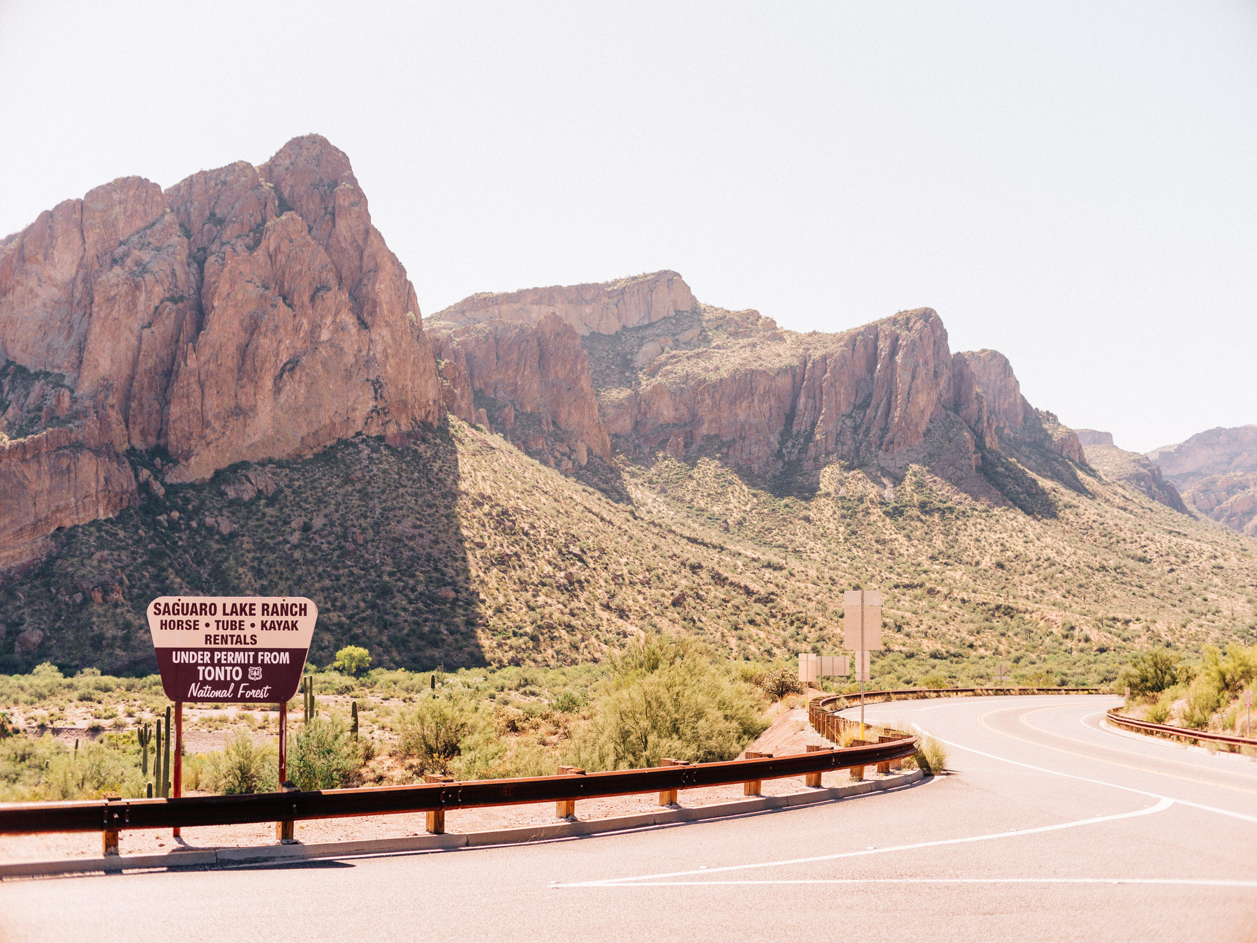 Saguaro Lake Ranch in the Tonto National Forest