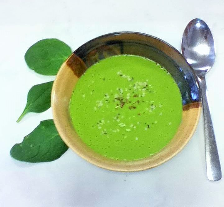 green pea blender soup