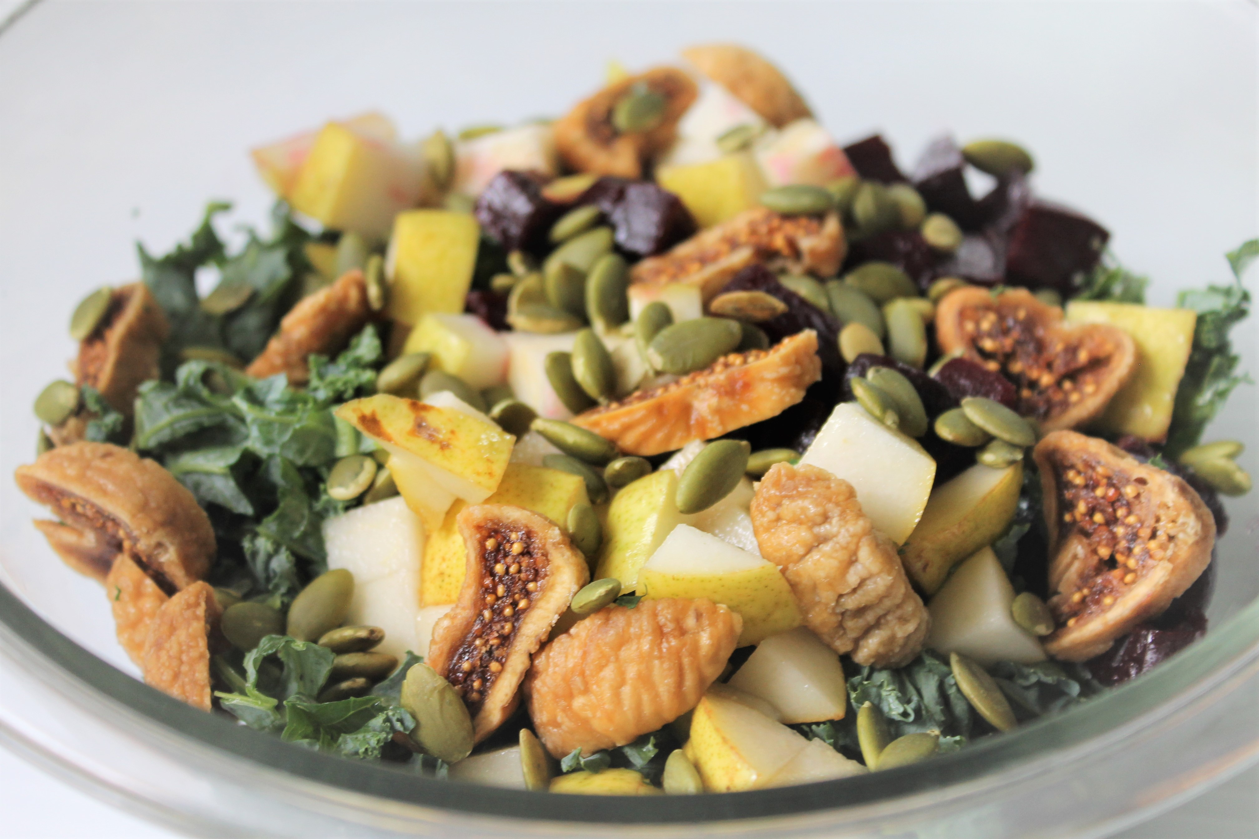 Kale, Pear, and Beet Salad