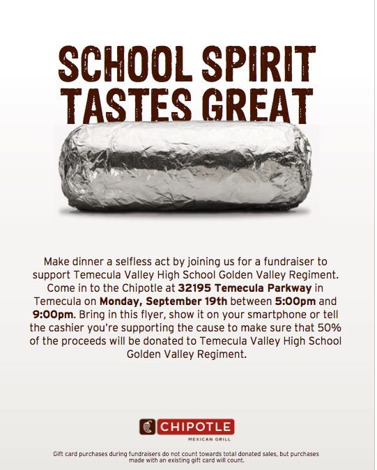 Chipotle Restaurant Night Fundraiser