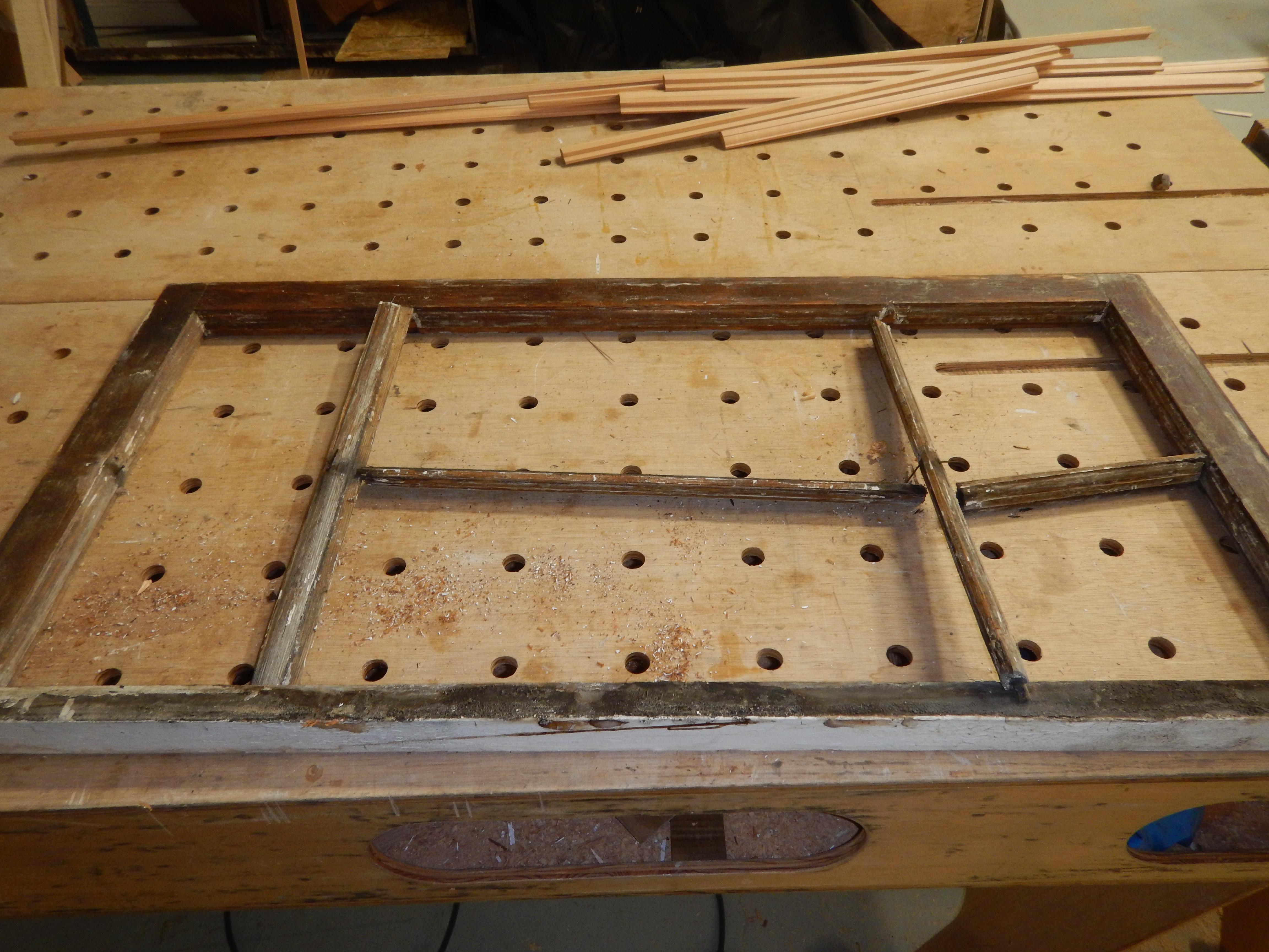 neglected wood window