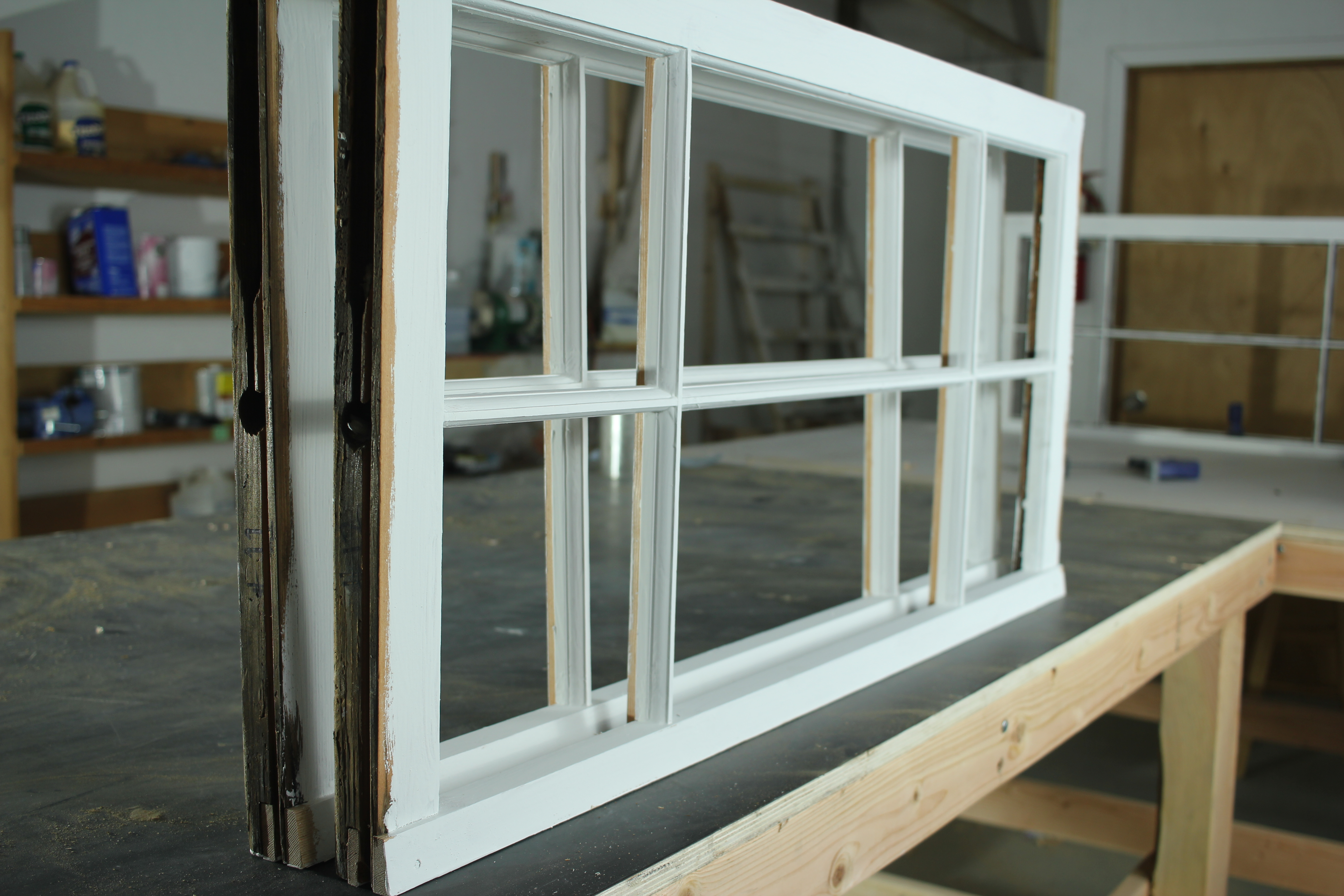 primed wood window