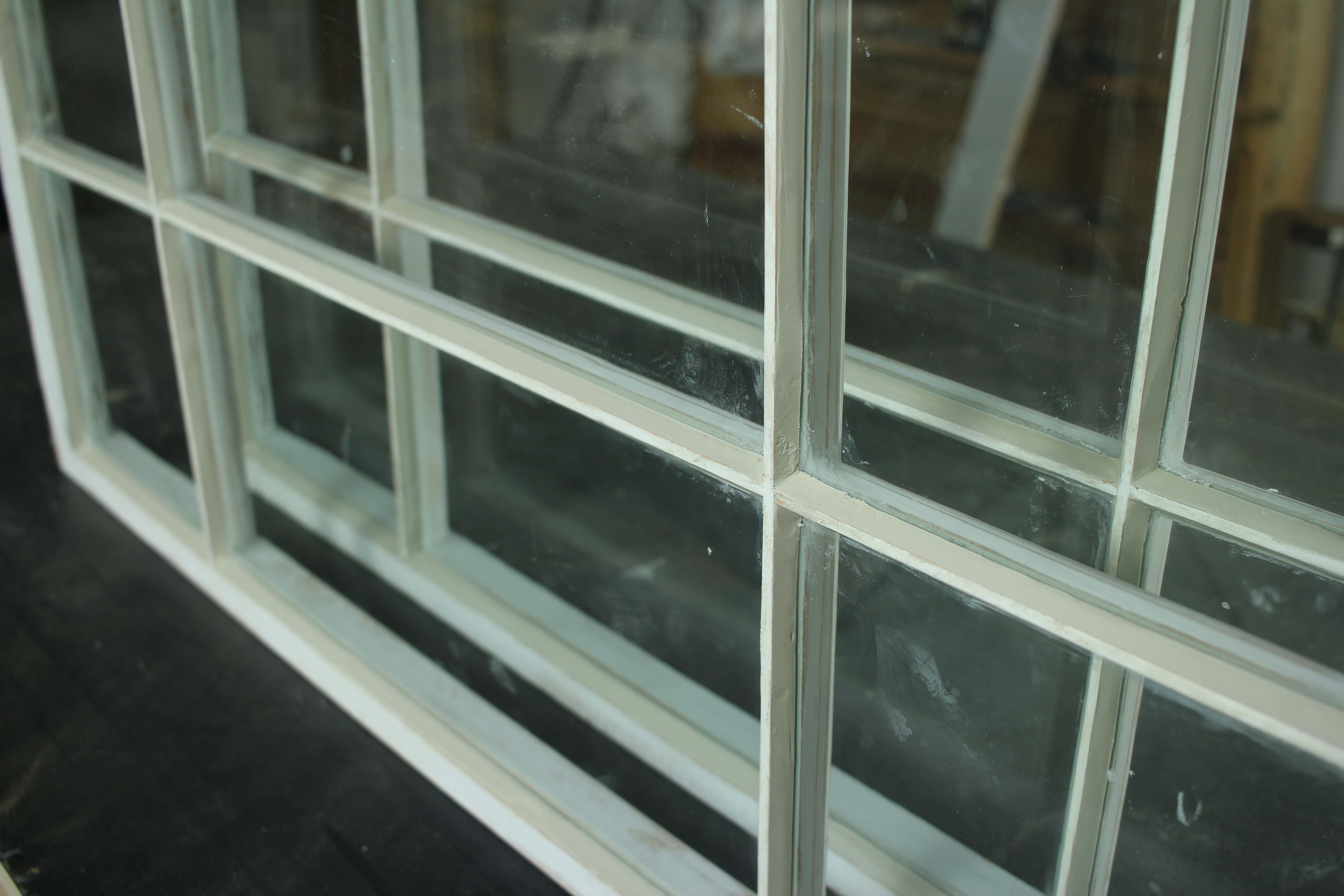 Sarco putty glazing glass installed