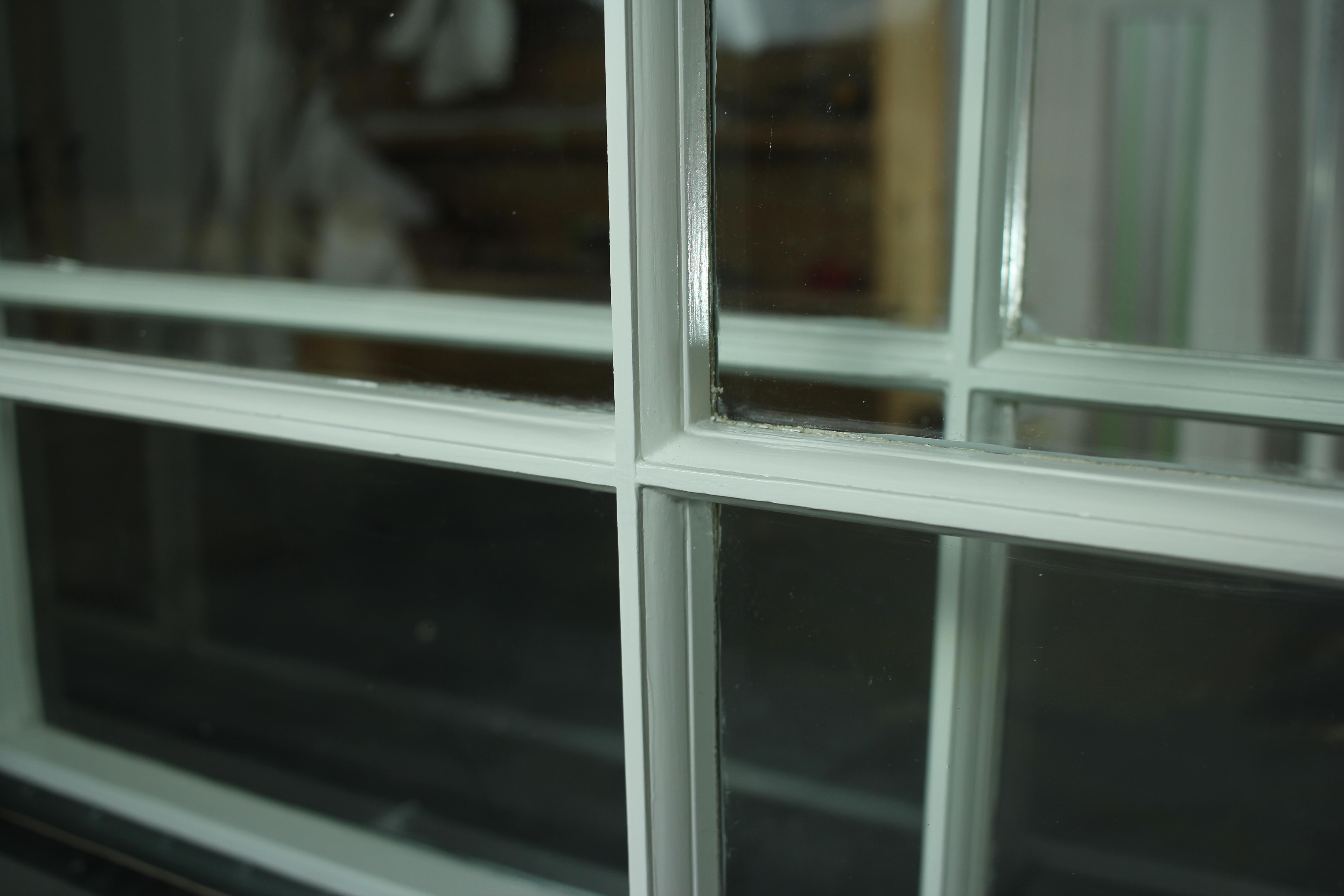 Close up wood window