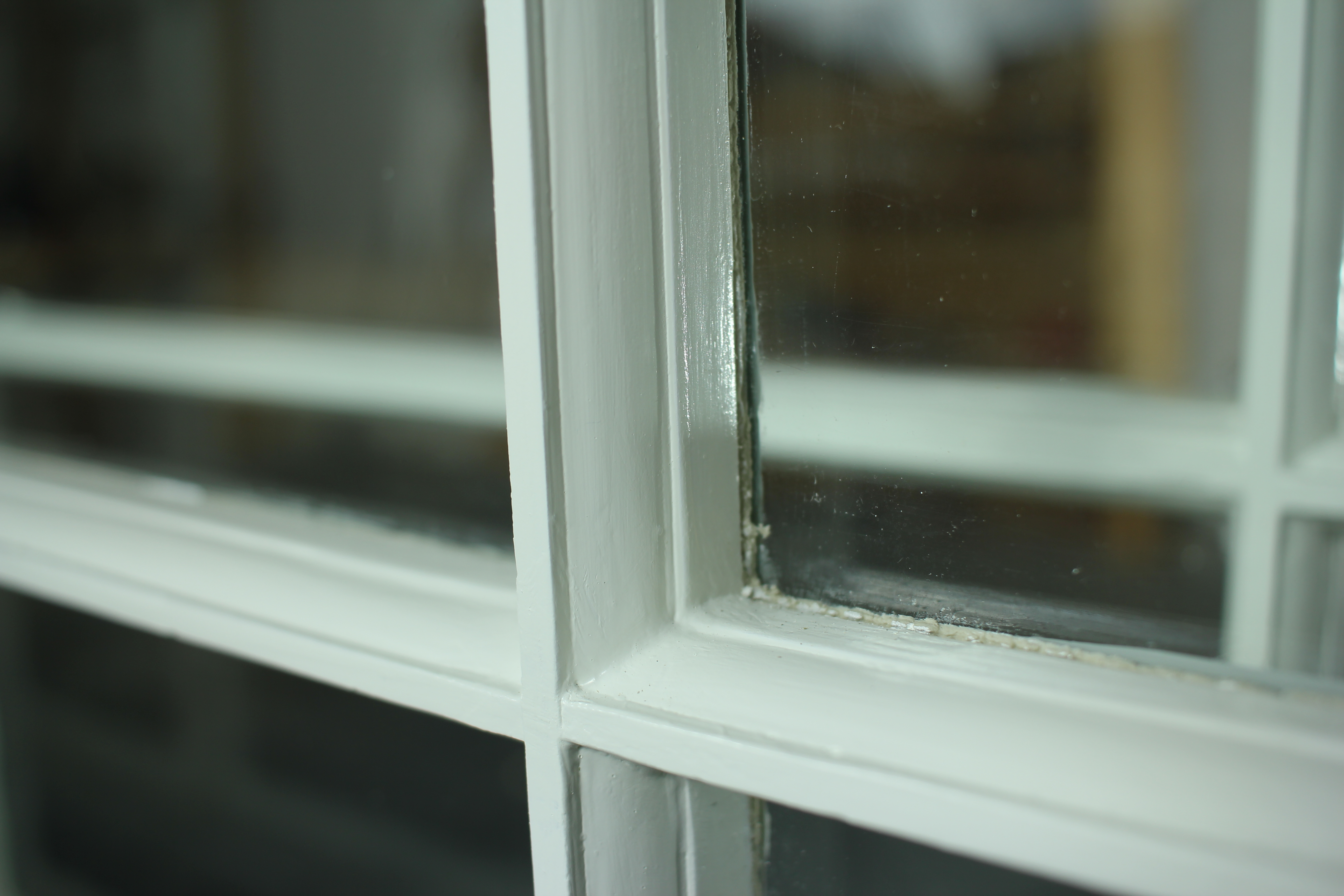 painting interior wood window