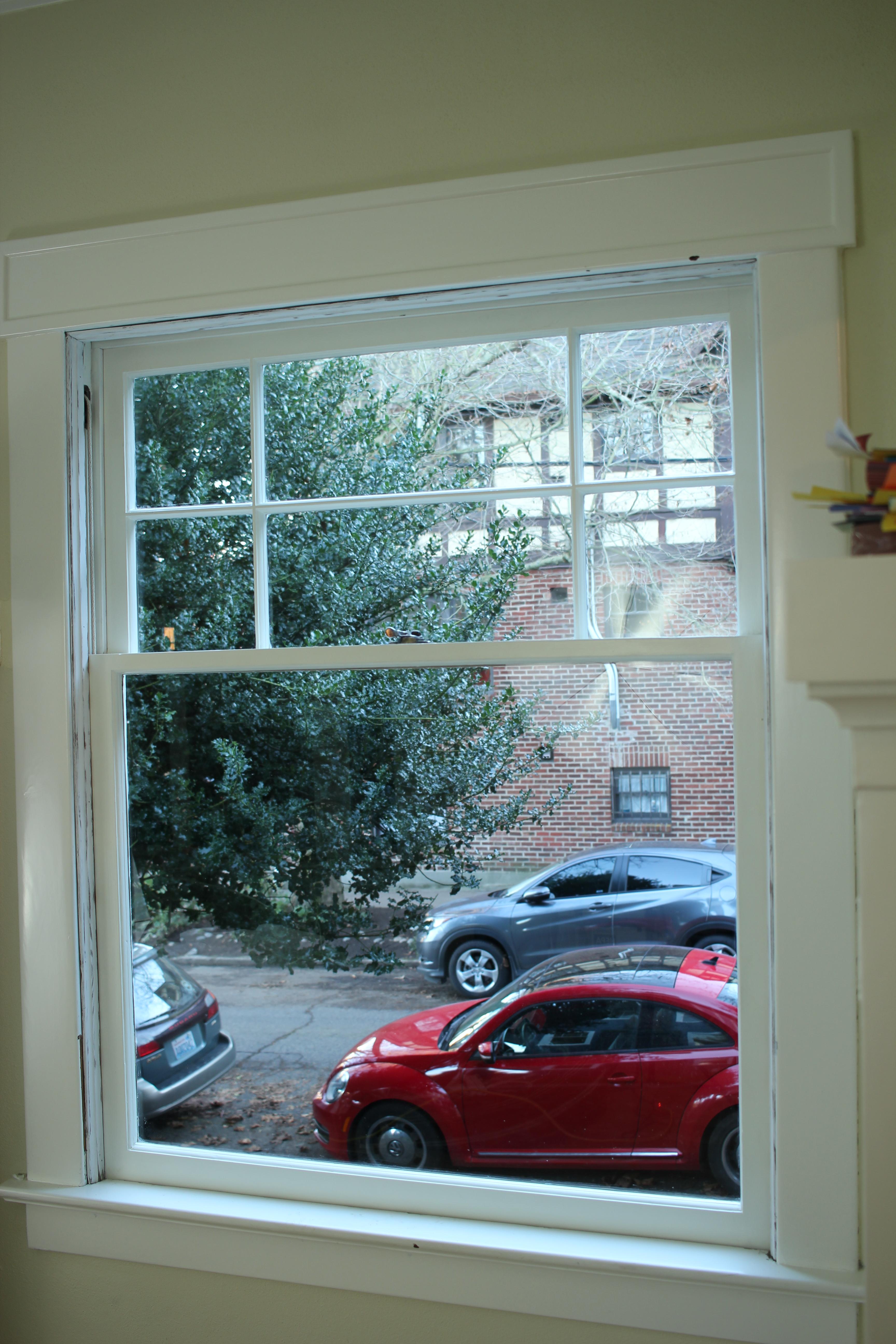 brand new wood window