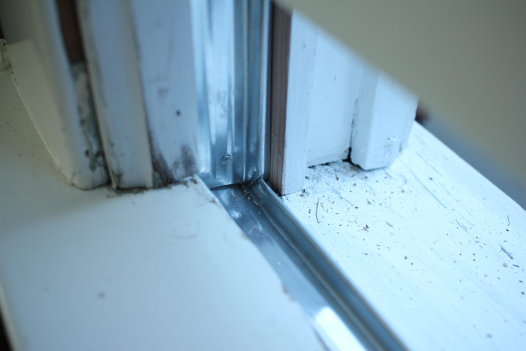 zinc metal window weather stripping