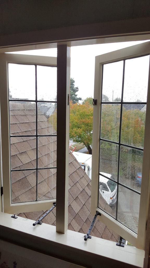 an opened out swing casment window in seattle wa