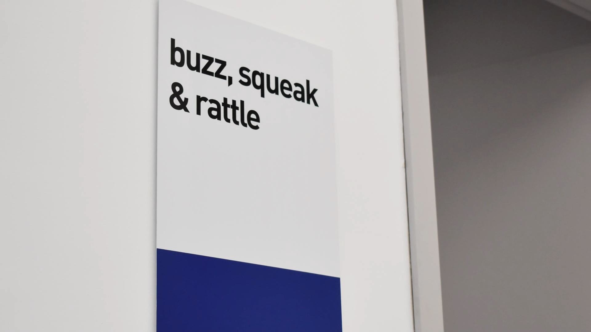 Buzz, Squeak and Rattle Testing