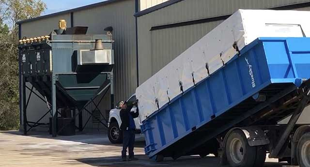 mobile dust-collector-delivery Texas