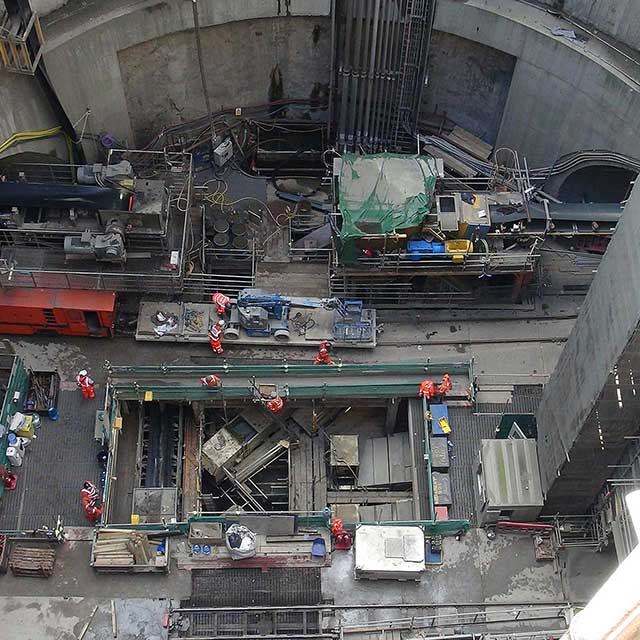 tunnel construction dust collector