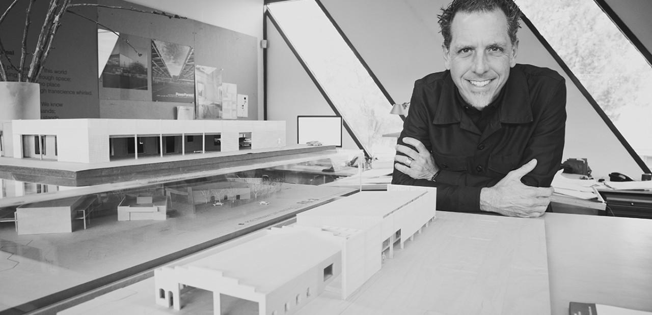 Jack DeBartolo with architectural model