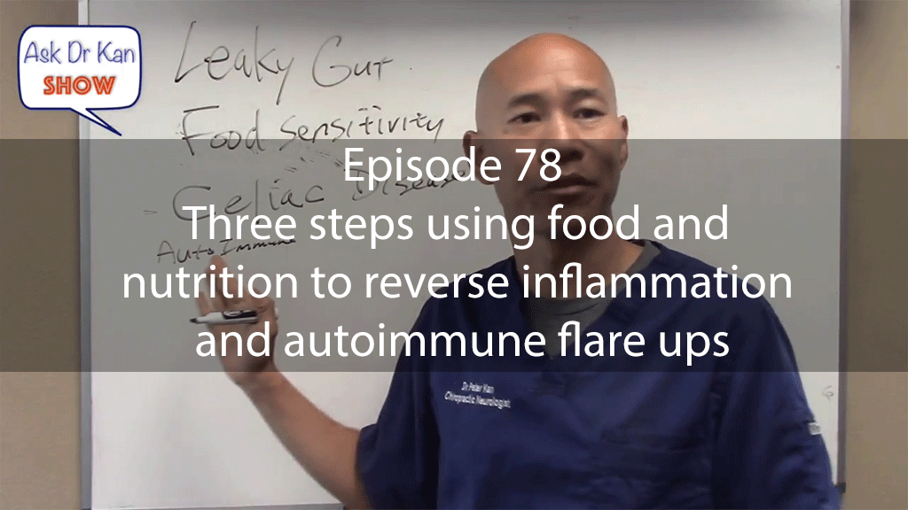 AskDrKan Show – Episode 78 – Three steps using food and nutrition to reverse inflammation and autoimmune flare ups