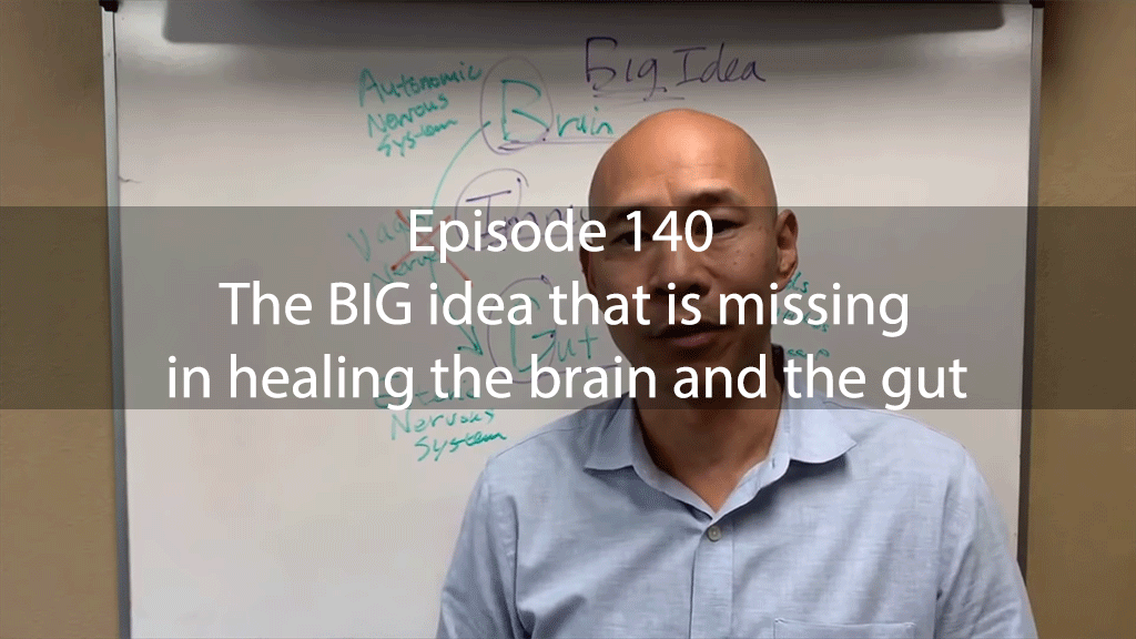 Ask Dr Kan Show Ep 140 – The BIG idea that is missing in healing the brain and the gut