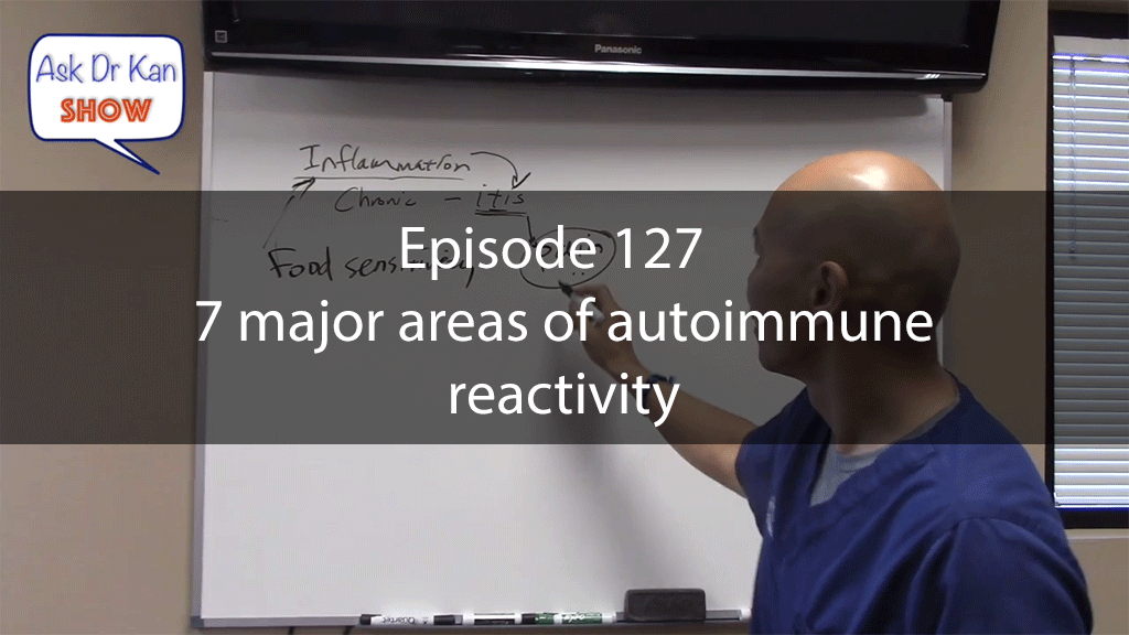 Ask Dr Kan Show Episode 127 – 7 major areas of autoimmune reactivity