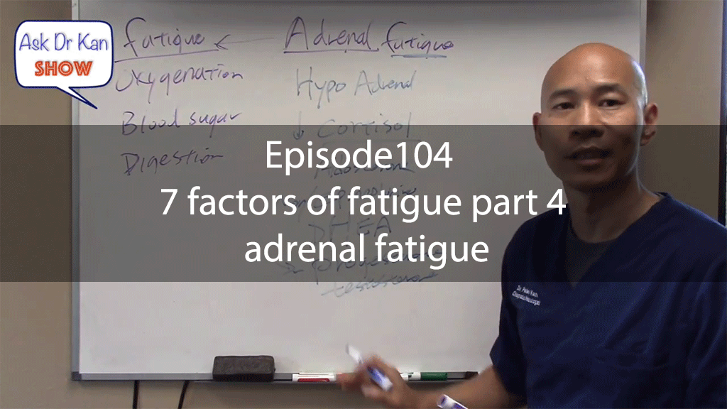 Ask Dr KanShow Episode104 – 7 factors of fatigue part 4 – adrenal fatigue