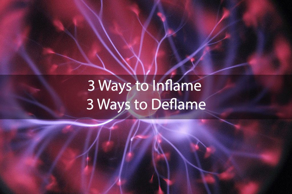 3 Ways to Inflame, 3 Ways to Deflame
