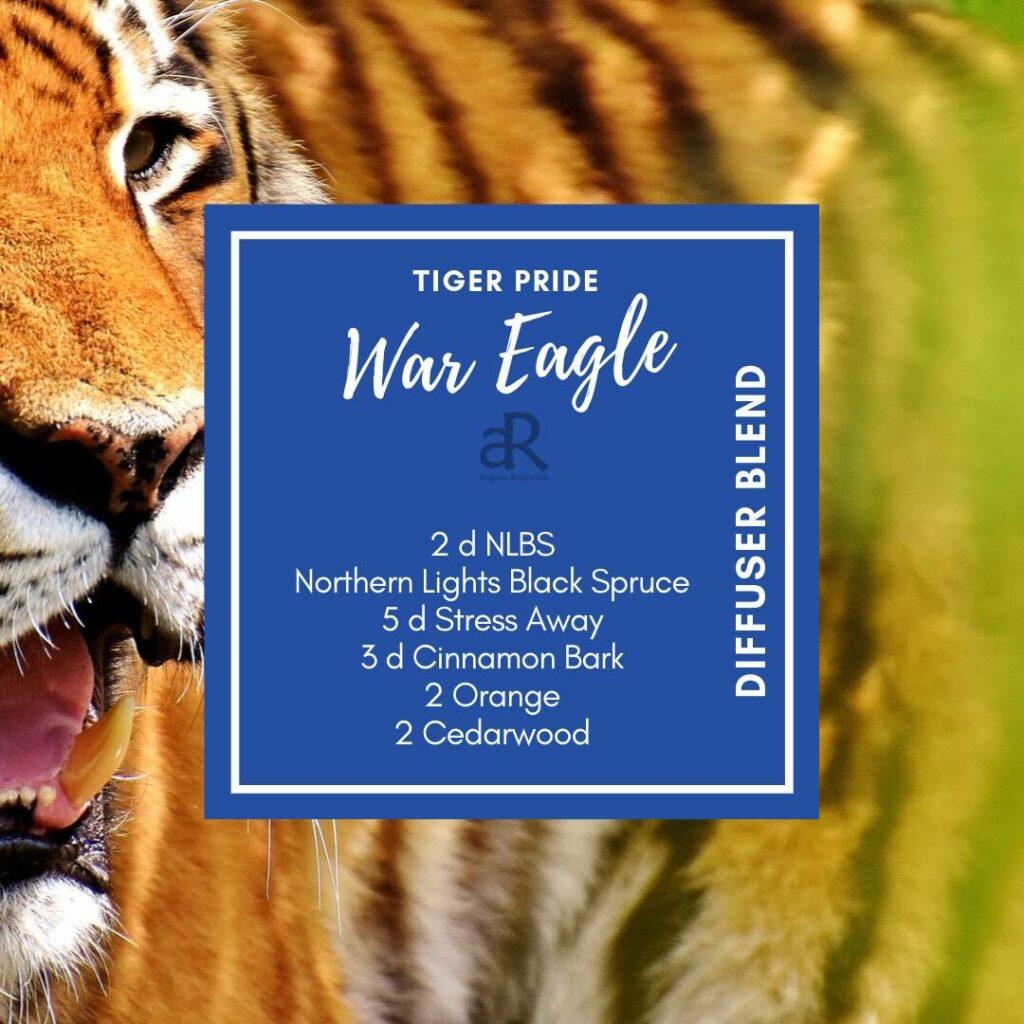 Tiger Pride Auburn War Eagle Diffuser Blend