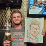 Sometimes all you need is a caricature and a drink.