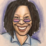 Whoopi Goldberg's caricature by Brandy