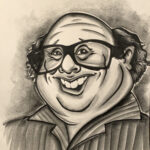 Danny DiVito a caricature by Brandy