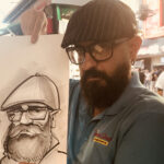 A caricature Selfie by Ghaisar