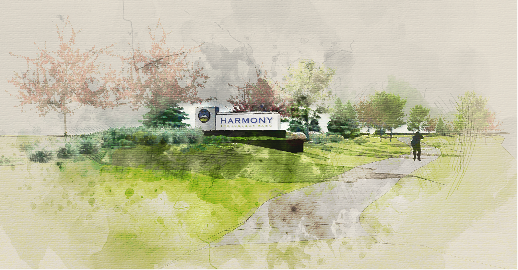 HTP Monument Sign Rendering