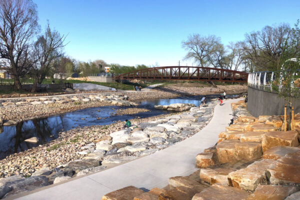 Poudre River Whitewater Park Features