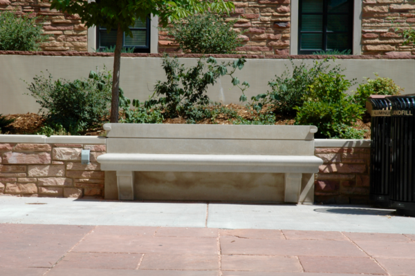Baker Hall - Custom Stone Bench