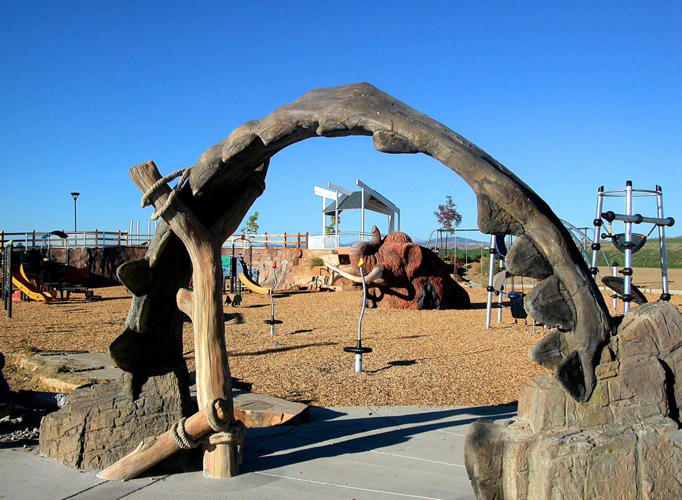 Fossil Creek Park - Theme Design - Shark Jaw Archway