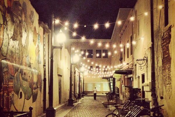Tenny Court Fort Collins Alley Night