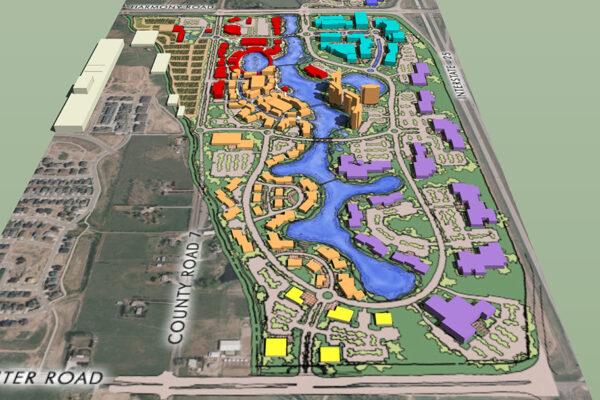 9 Bridges Conceptual Master Plan Rendering - 3D