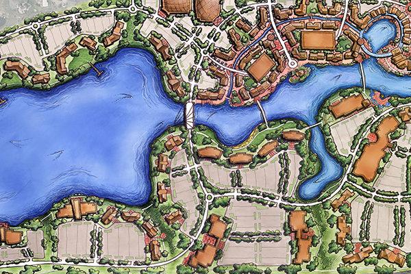 9 Bridges Conceptual Master Plan Rendering