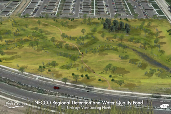 NECCO Regional Detention and Water Quality Pond Rendering
