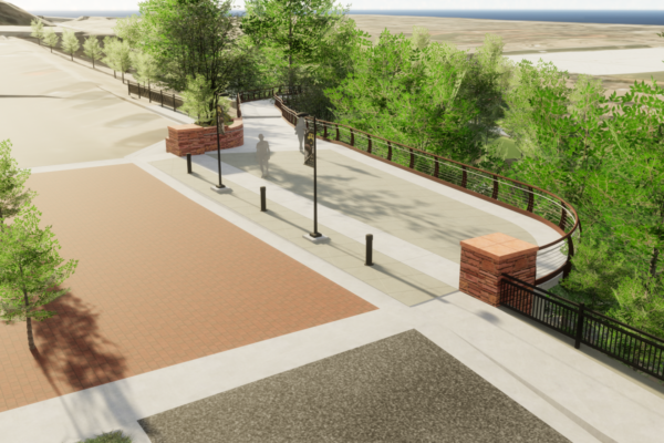 CU Boulder 23rd Street Bridge - South Landing Rendering