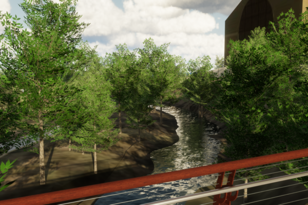 CU Boulder 23rd Street Bridge - Creek View Rendering