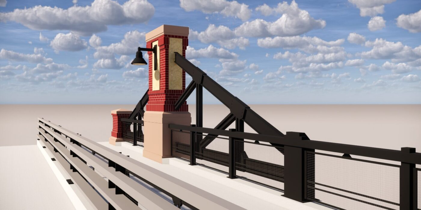 Erie Bridge Column Rendering