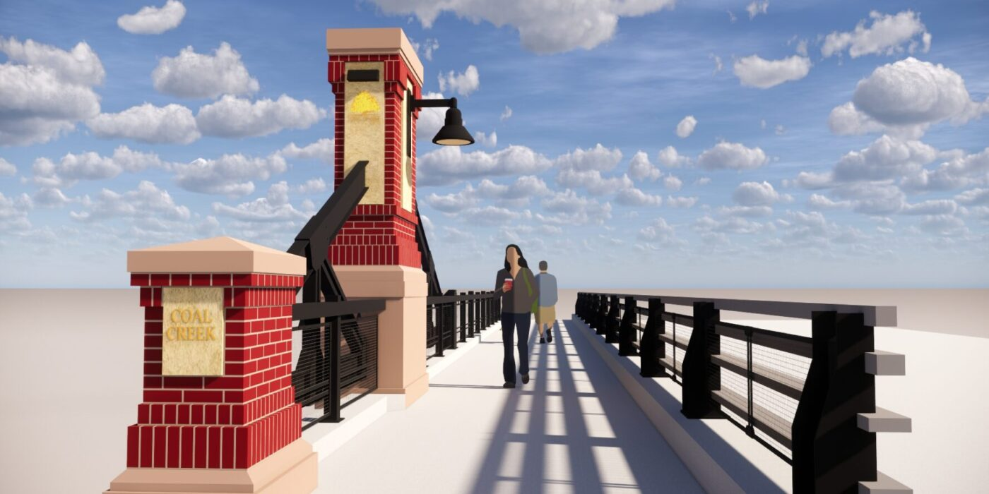 Erie Bridge Pedestrian View Rendering