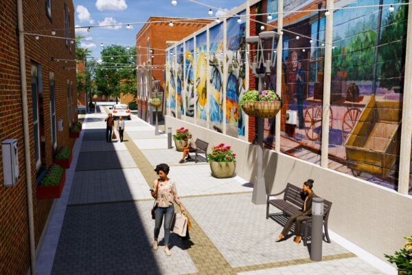 Berthoud Mountain Ave. Alley Concept Rendering