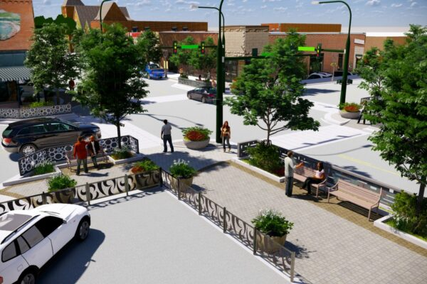 Berthoud Mountain Ave. Streetscape Concept Rendering