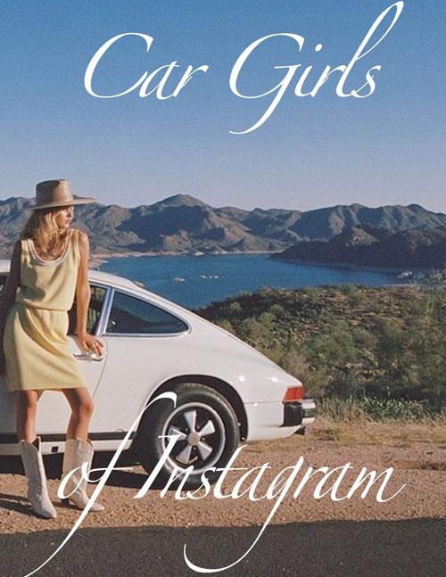 Car girls of Instagram