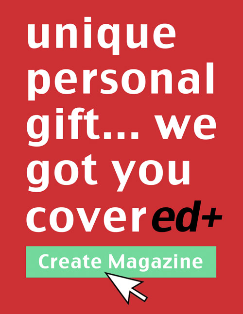 create a unique personalized gift magazine