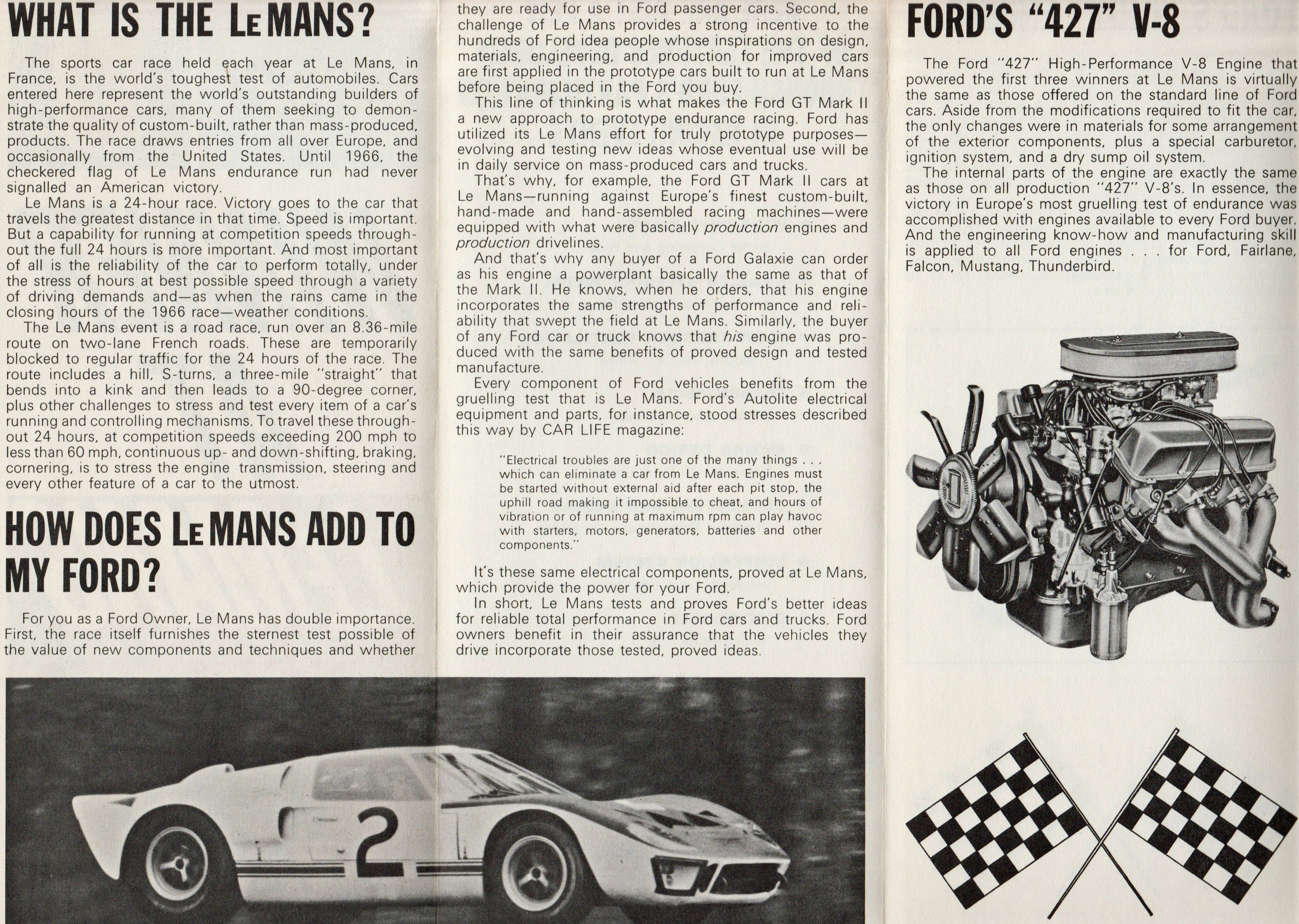 1966 Ford GT40 Le Mans Brochure Page 2