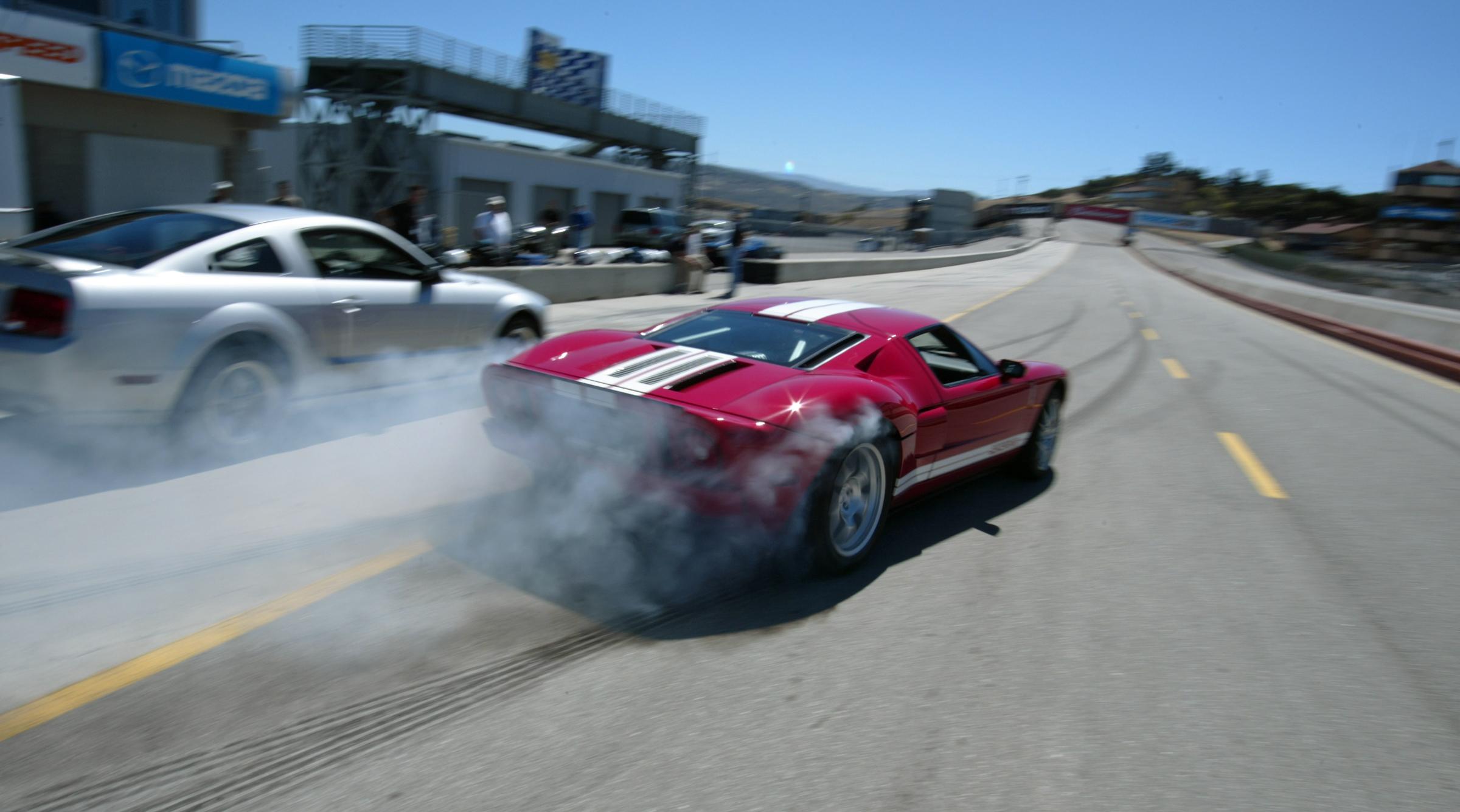 2005 Ford GT Laguna Seca Red Burnout